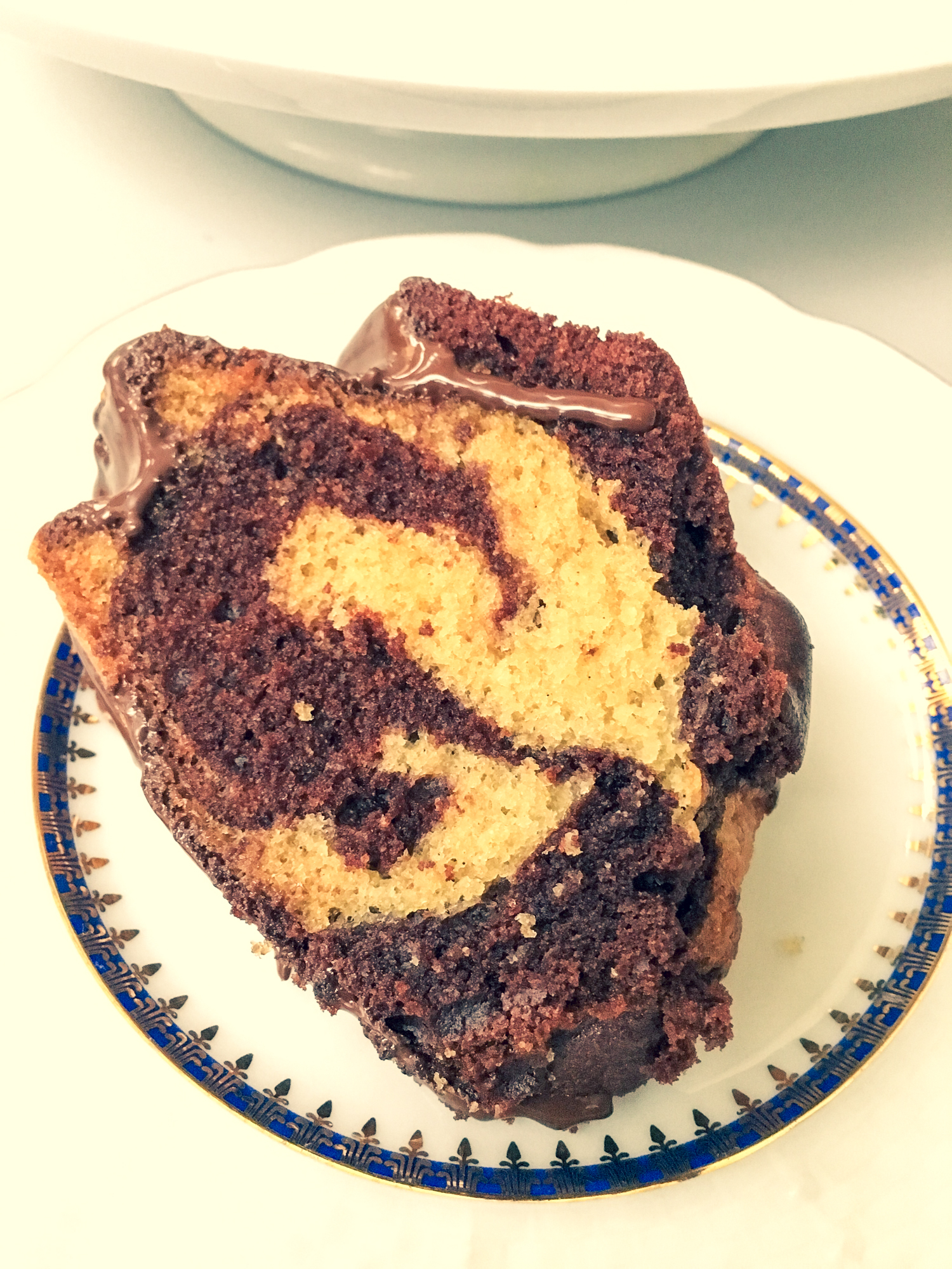 slice of marble cake