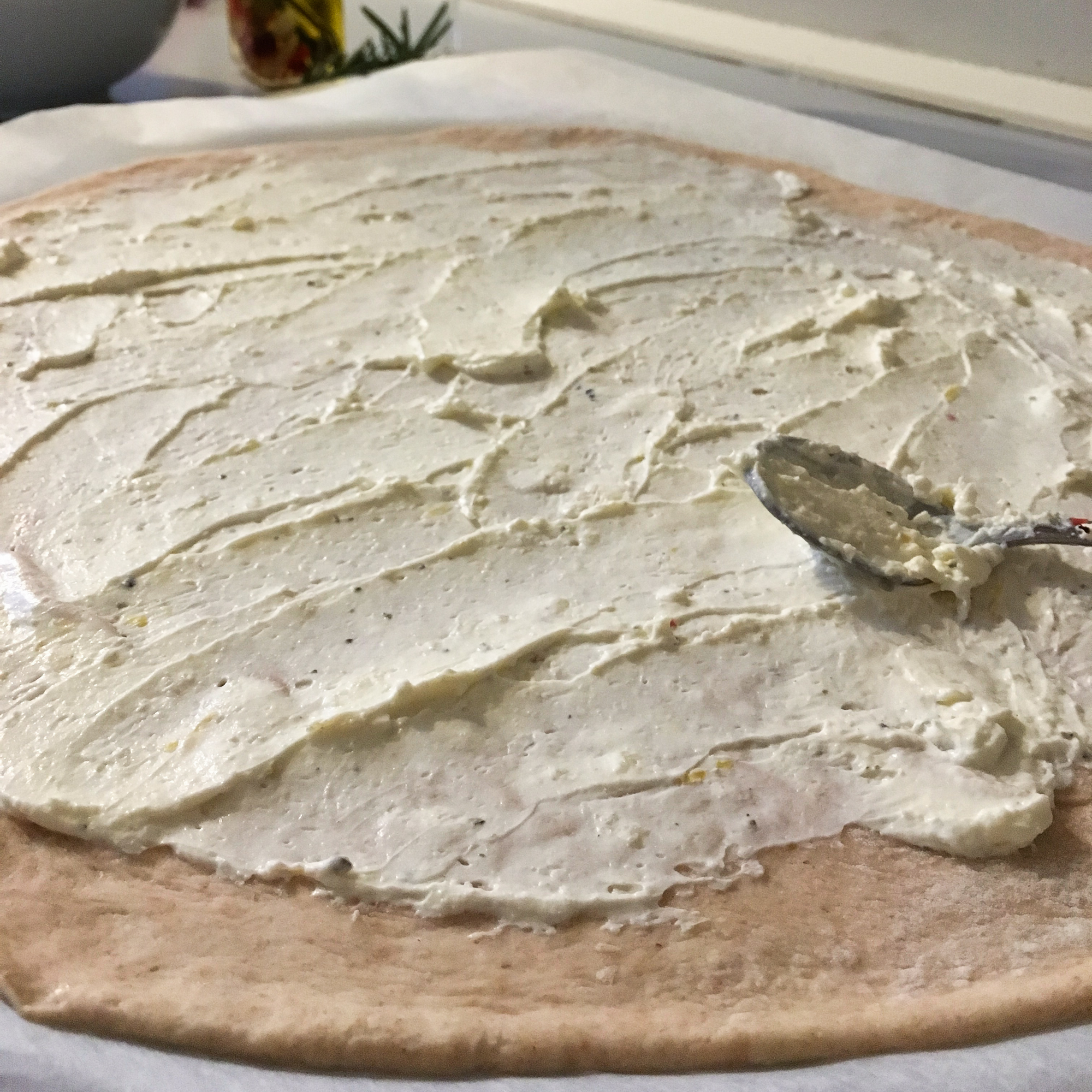 pizza dough with cream cheese